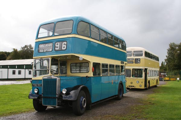 Buses displayed outside hut 27